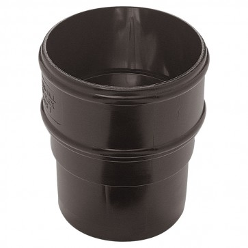 Downpipe Round Black Pipe Socket 65mm