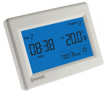 Emmeti Programmable Touchscreen Thermostat 230V
