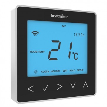 Heatmiser NeoStat Programmable Digital Thermostat 12V - Black