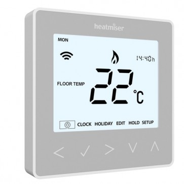 Heatmiser NeoStat Programmable Digital Thermostat 12V - Silver