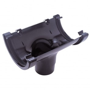 Gutter Half Round Black Running Outlet 112mm
