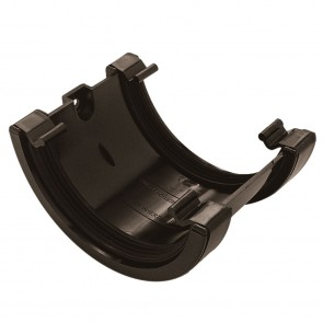 Gutter Half Round Black Union Bracket 112mm