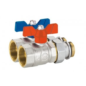 Emmeti Straight Isolation Ball Valve Pair 16mm