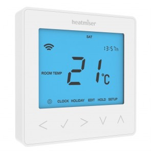 Heatmiser NeoStat Programmable Digital Thermostat 12V - White