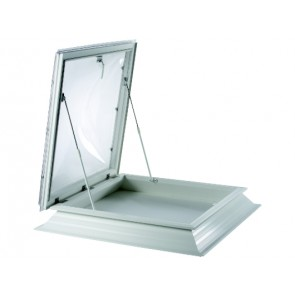 Polycarbonate Flat Roof Access Opening Skylight Dome Window & Upstand Kerb