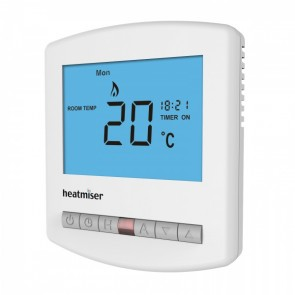 Heatmiser Slimline Programmable Digital Thermostat 230V